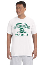 CSU Rams White Property of Colorado State T-shirt